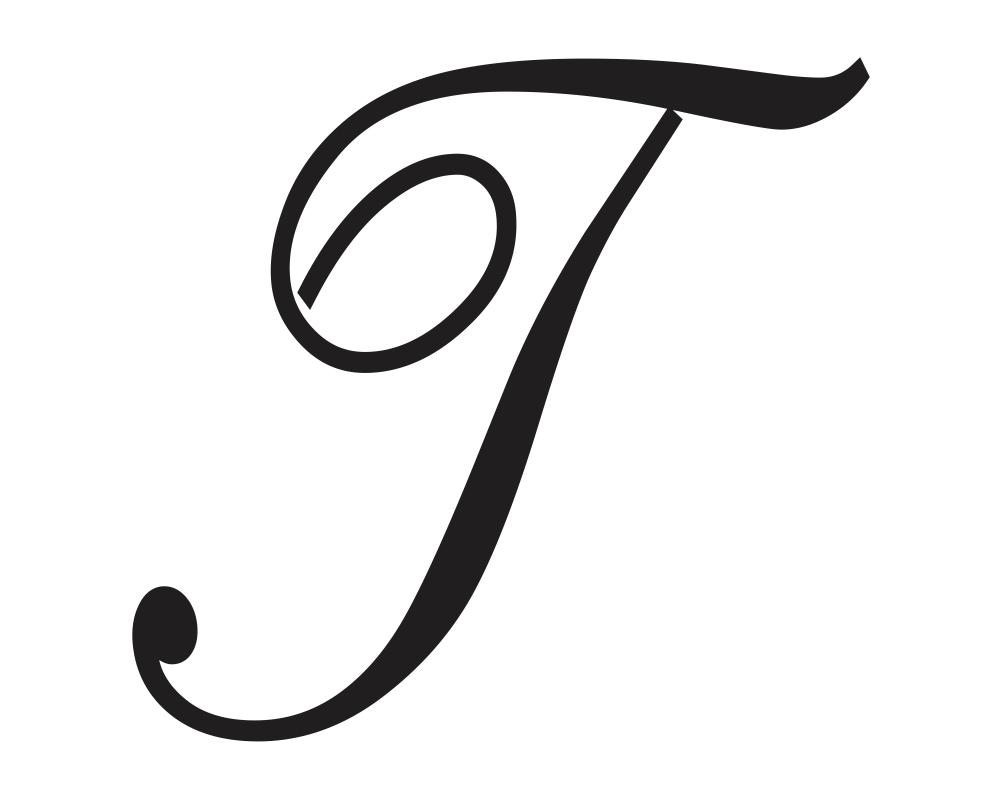 T in Cursive