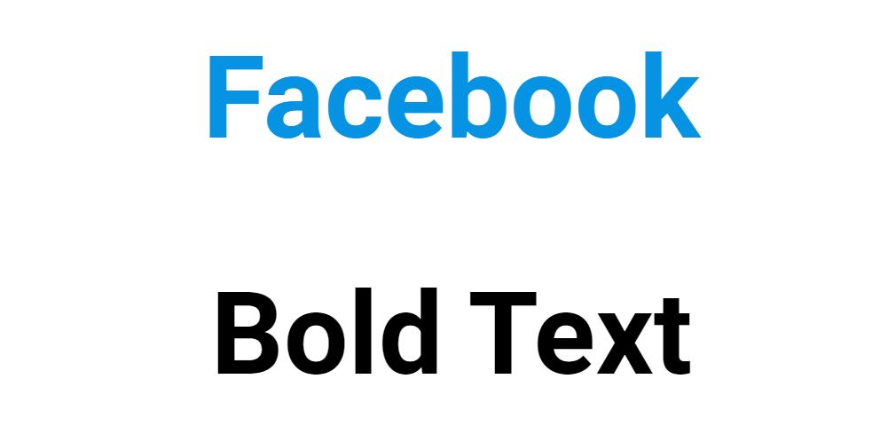 Facebook Bold Text