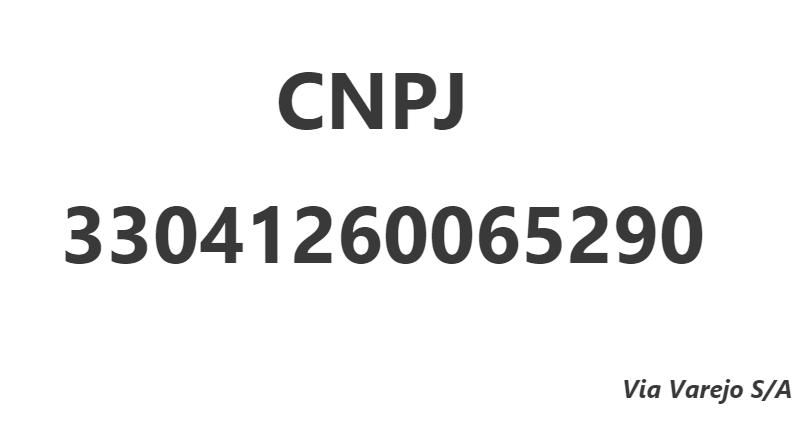 CNPJ 33041260065290