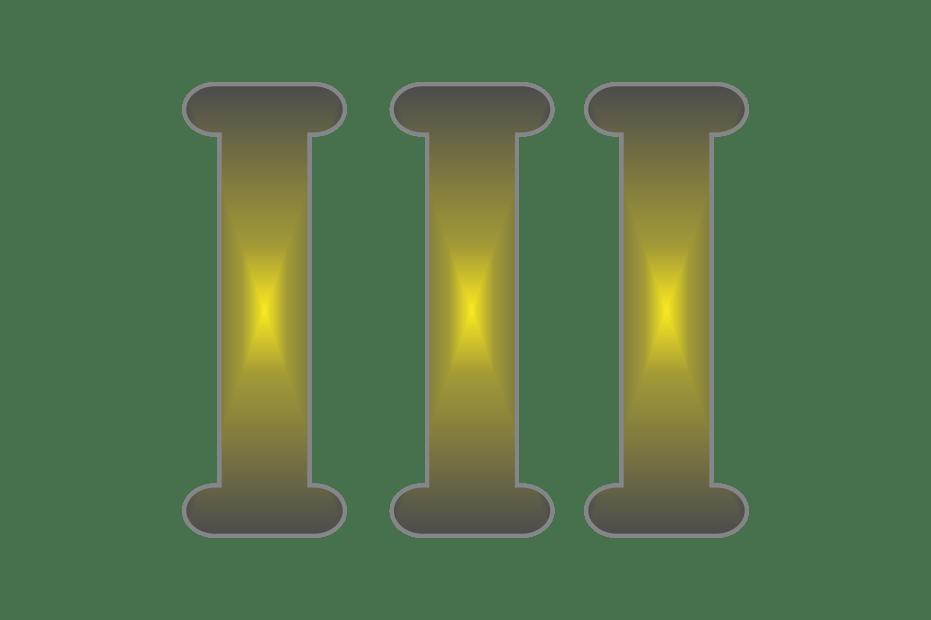 Download Roman Numeral 3 transparent PNG