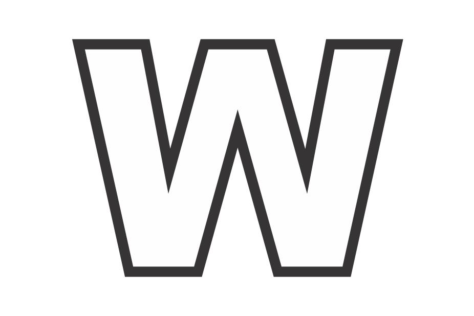 Molde letra W