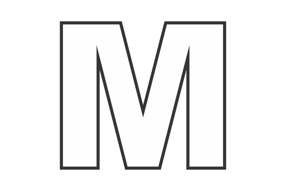 molde letra m