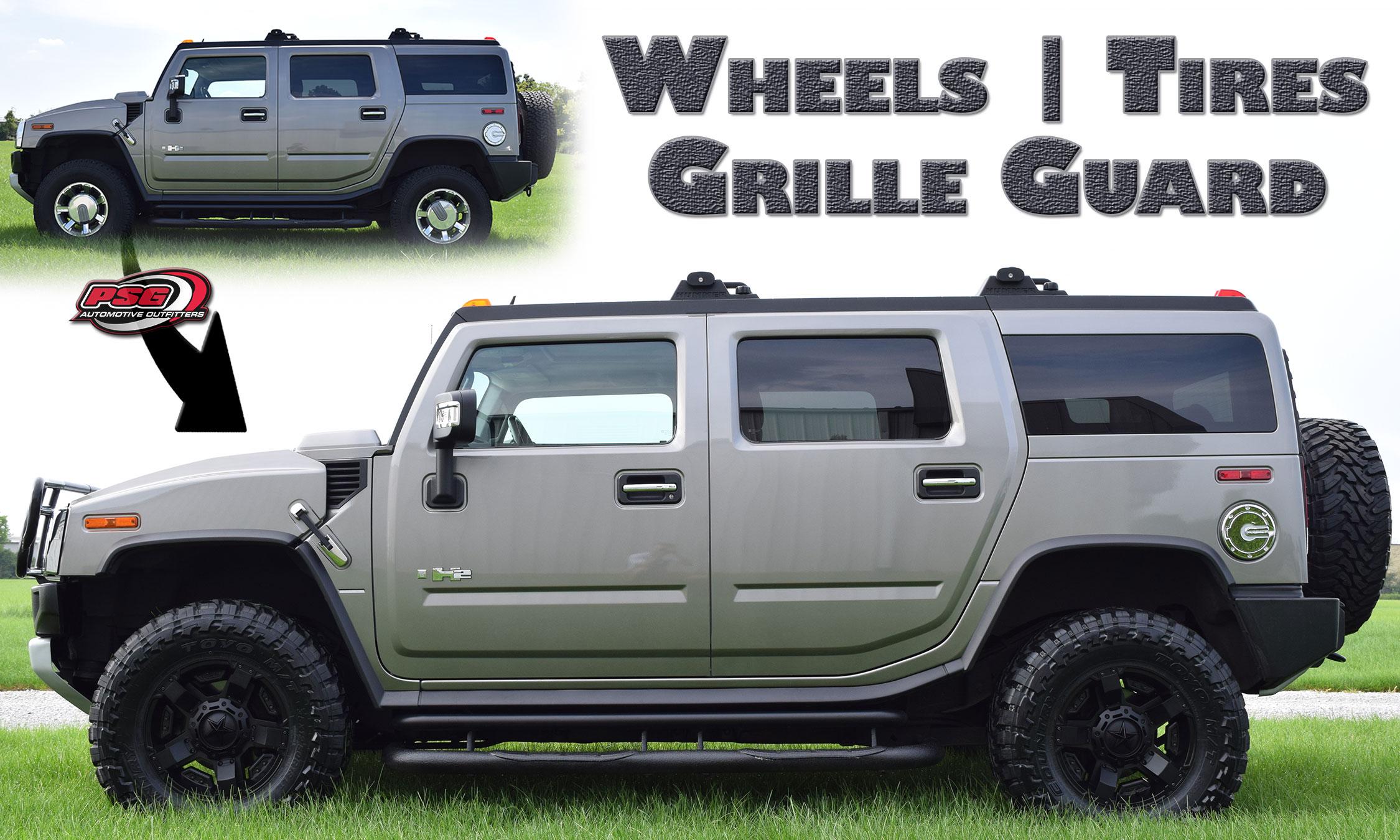 wheels tires grille guard h2 hummer copy PSG Automotive