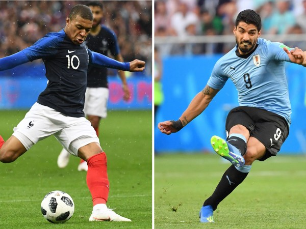 Kylian Mbappe and Luis Suarez