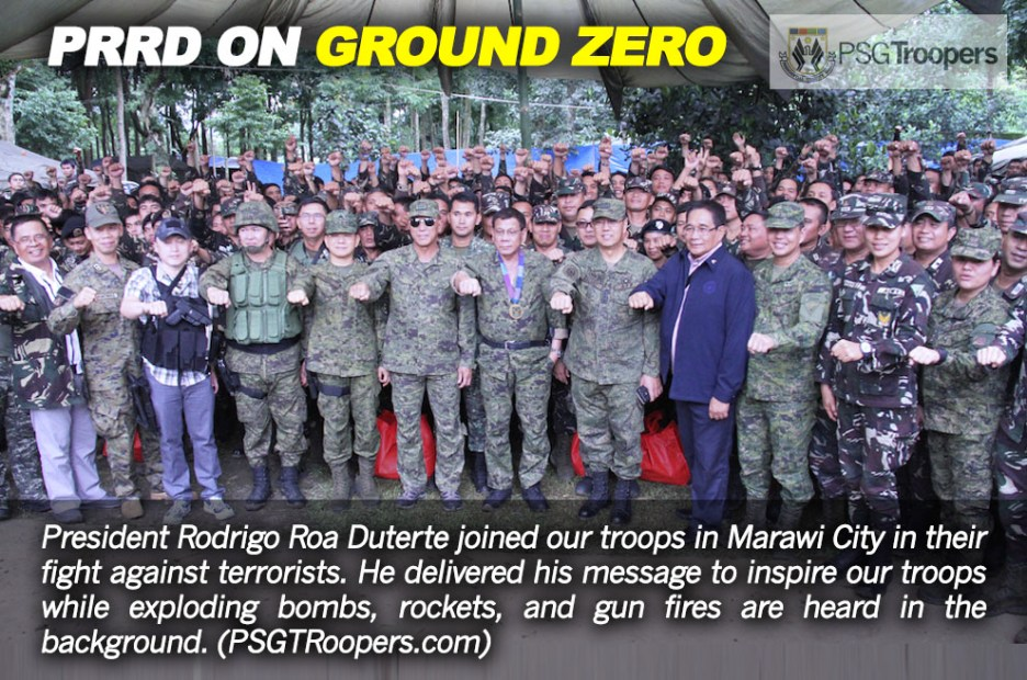 Commander-in-Chief joins troops vs. terrorists in Marawi