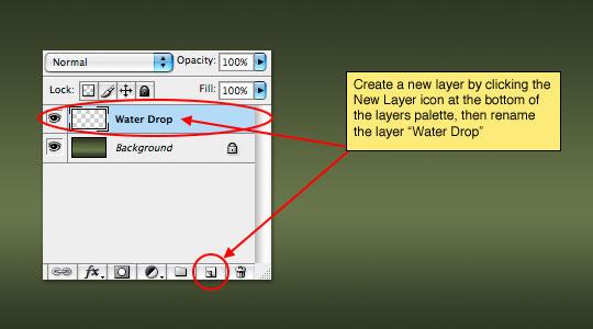 step5 Thiết Kế Giọt Nước Rơi trong Photoshop