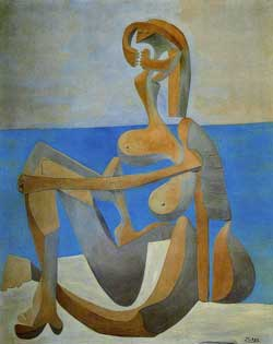 Αγοραφοβία τέλος, γυναίκα στην παραλία, picasso