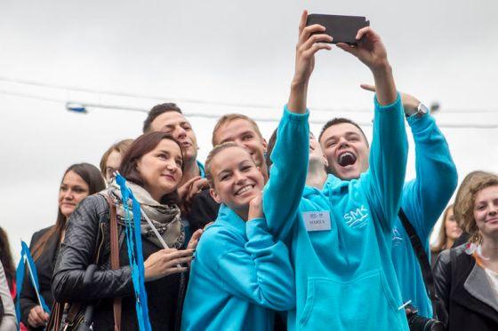 Vilniuje atidaryta Socialiniø mokslø kolegijos centrinë bûstinë. Pastato atidarymo ceremonijoje dalyvavo Vilniaus meras Artûras Zuokas, Ðvietimo ir mokslo viceministras R. Vaitkus ir kiti sveèiai.