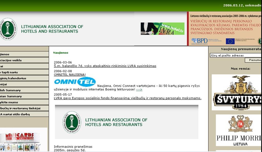 Viešbučių ir restoranų asociaciją - alkoholio pramonės lobistinė organizacija...