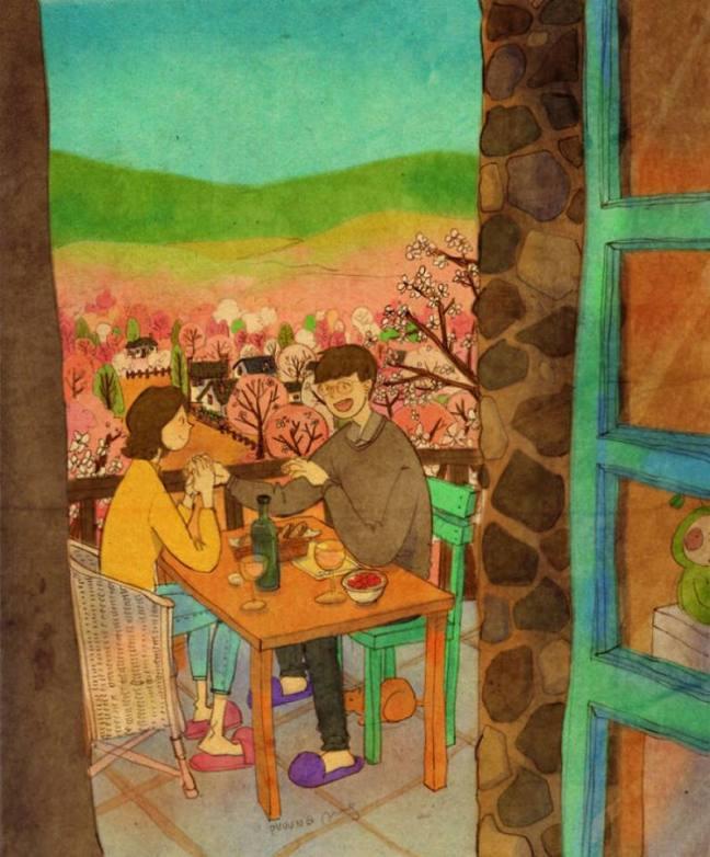 prova de amor almoço romantico com vinho na varanda