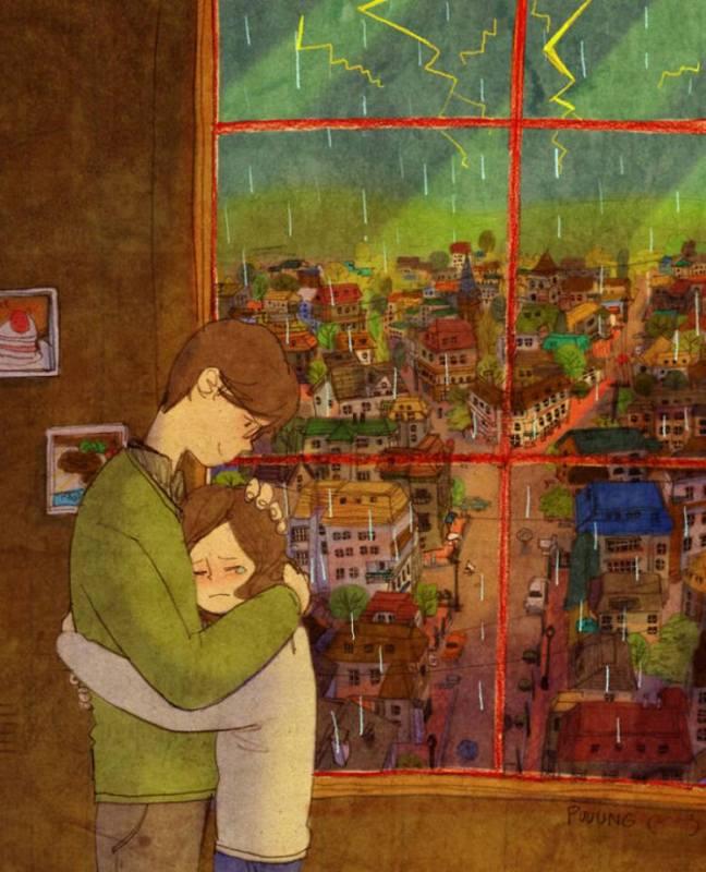 prova de amor casal se consolando enquanto ela chora