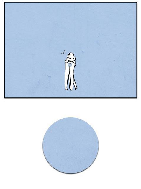 E num abraço seguro, o círculo se completou. Éramos novamente, infinito.