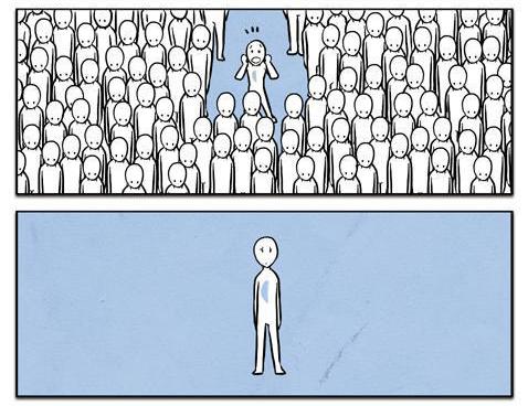 Éramos muitos perdidos. Éramos muitas metades. Estávamos todos sozinhos.
