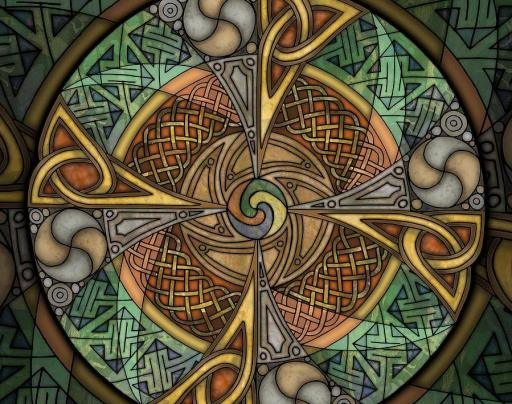 Celtic Aperture Mandala by Kristen Fox