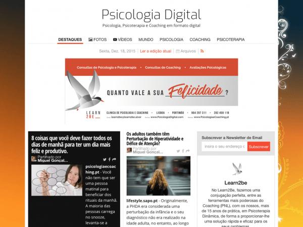 Edição Revista Psicologia Digital - Dezembro 2015