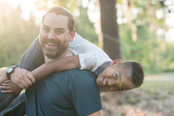 Terapia familiar: pai e filho