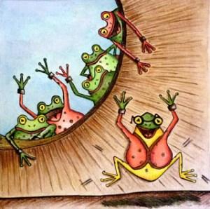La metáfora de la rana en el hoyo