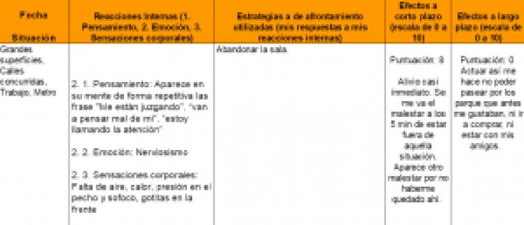 Herramienta psicólogo Barcelona Diario de estratregias