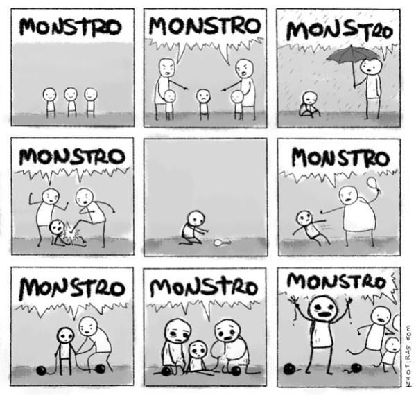 Desenho monstro.