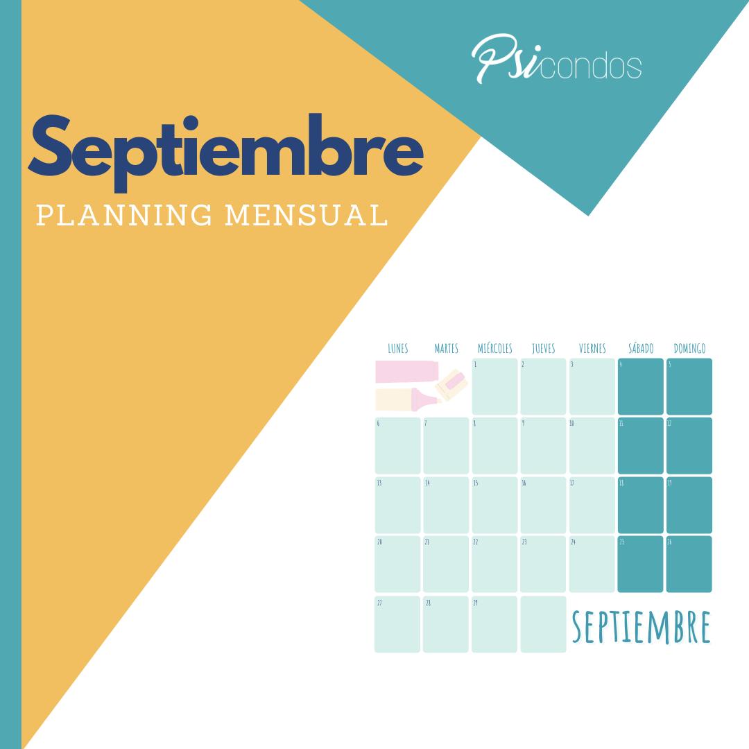 Calendario de septiembre de 2021