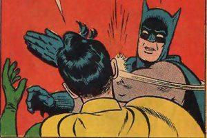 Robin a menudo era maltratado por Batman.