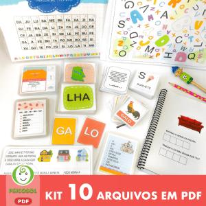 Kit alfabetização com 10 itens