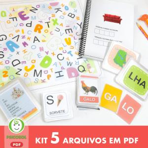 Kit Alfabetização com 5 itens