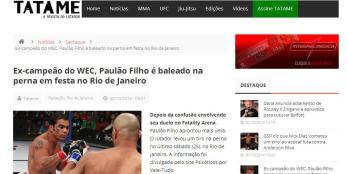 Site Tatame publicação da matéria exclusiva Psicóticos por VT.