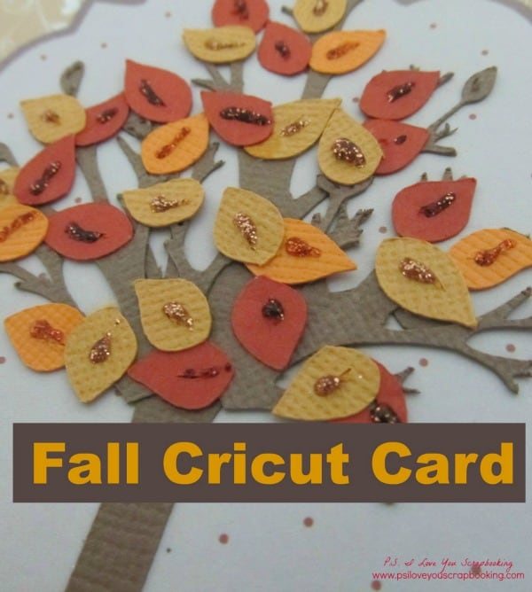 Fall Cricut Card - Colorful Fall Tree Cricut Card with leaves and beautiful papers. Uses the Stretch Your Imagination Cricut Cartridge. Here are 20 Fall Paper Crafts to enjoy with your friends and family. Fall Home Decor, Fall and Thanksgiving Handmade Cards, Fall Printables, Kids' Crafts leaves, pumpkins, feathers, and so much more!