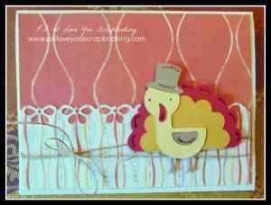 Create A Critter Cricut Cartridge Turkey Thanksgiving Card