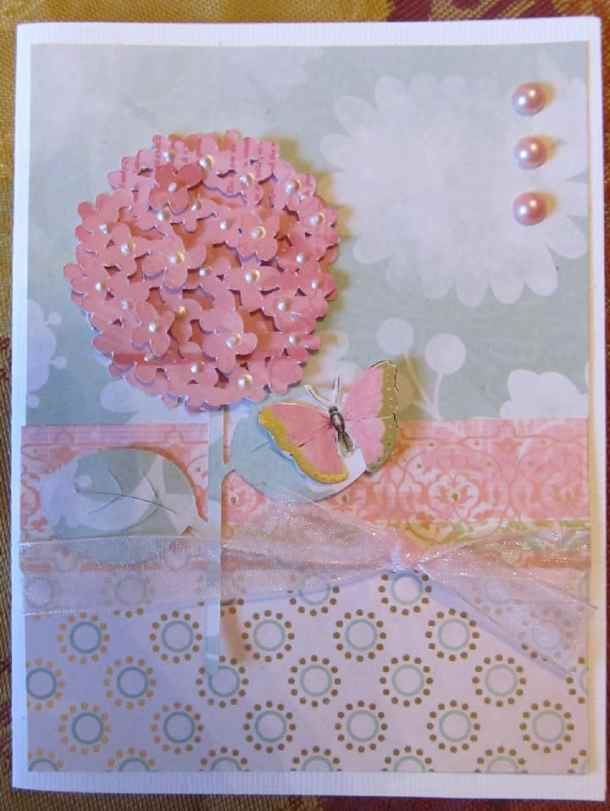 walk in my garden cricut cartridge hydrangea card