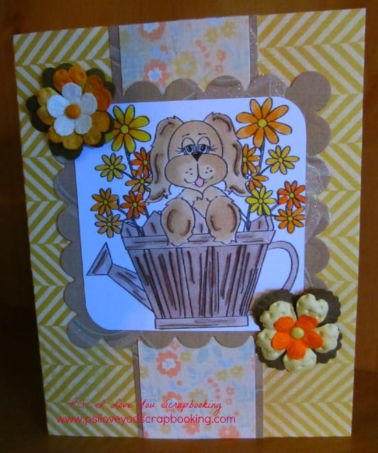 Dog Card Using Copic Markers - P S  I Love You Crafts