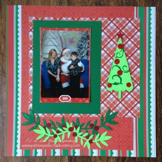 Cricut Christmas Scrapbook Page Layout