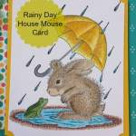 House Mouse Puddle Fun Card
