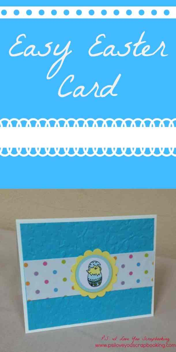 Here is an Easy Easter Card to make. I used a Penny Black stamp from the Garden Friends Set, card stock, patterned paper, and circle punches.