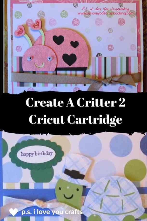 The Create a Critter 2 Cricut Cartridge has cute animals read for all of the holidays. You will be able to make cards, scrapbook pages, decorations, and party favors all year.