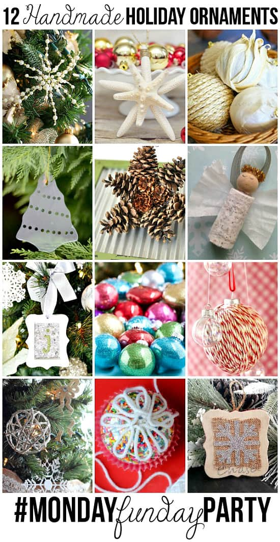12 Handmade Christmas Ornaments - Handmade Christmas Ornaments are so much to create during the holiday season. Here are 65+ Homemade Christmas Ornaments for Kids and Adults. They are broken down into felt ornaments, Christmas balls, country and rustic Christmas ornaments, and Christmas ornaments that kids can make.