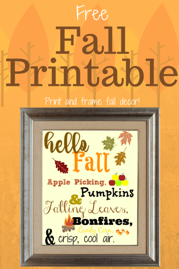 Free Fall Printable Sign - Here are 20 Fall Paper Crafts to enjoy with your friends and family. Fall Home Decor, Fall and Thanksgiving Handmade Cards, Fall Printables, Kids' Crafts leaves, pumpkins, feathers, and so much more!