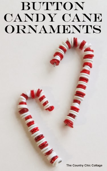 Candy Cane Button Ornaments - Handmade Christmas Ornaments are so much to create during the holiday season. Here are 65+ Homemade Christmas Ornaments for Kids and Adults. They are broken down into felt ornaments, Christmas balls, country and rustic Christmas ornaments, and Christmas ornaments that kids can make.