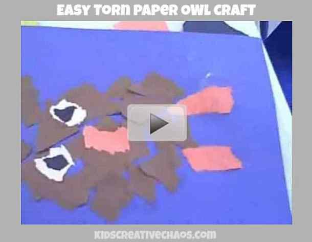 Easy Torn Paper Owl - Here are 20 Fall Paper Crafts to enjoy with your friends and family. Fall Home Decor, Fall and Thanksgiving Handmade Cards, Fall Printables, Kids' Crafts leaves, pumpkins, feathers, and so much more!