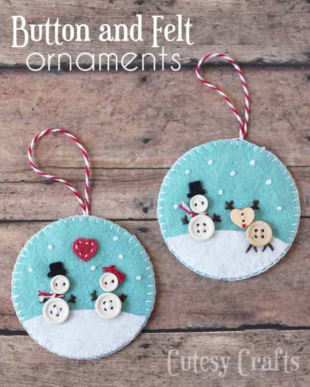 Felt Christmas Ornaments - Handmade Christmas Ornaments are so much to create during the holiday season. Here are 65+ Homemade Christmas Ornaments for Kids and Adults. They are broken down into felt ornaments, Christmas balls, country and rustic Christmas ornaments, and Christmas ornaments that kids can make.