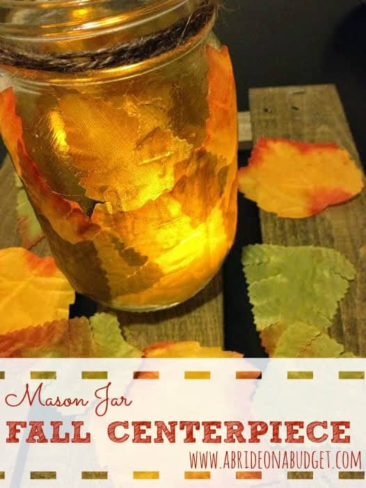Mason Jar Fall Leaf Centerpiece Luminaries - Here are 20 Fall Paper Crafts to enjoy with your friends and family. Fall Home Decor, Fall and Thanksgiving Handmade Cards, Fall Printables, Kids' Crafts leaves, pumpkins, feathers, and so much more!