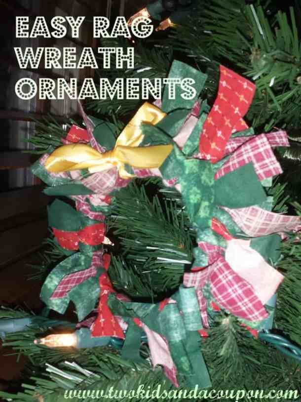 Rag Wreath Ornaments - Handmade Christmas Ornaments are so much to create during the holiday season. Here are 65+ Homemade Christmas Ornaments for Kids and Adults. They are broken down into felt ornaments, Christmas balls, country and rustic Christmas ornaments, and Christmas ornaments that kids can make.