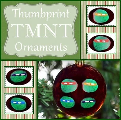 Teenage Mutant Ninja Turtle Ball - Handmade Christmas Ornaments are so much to create during the holiday season. Here are 65+ Homemade Christmas Ornaments for Kids and Adults. They are broken down into felt ornaments, Christmas balls, country and rustic Christmas ornaments, and Christmas ornaments that kids can make.