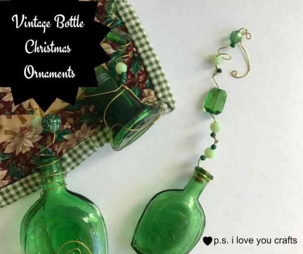 Vintage Bottle Christmas Ornaments