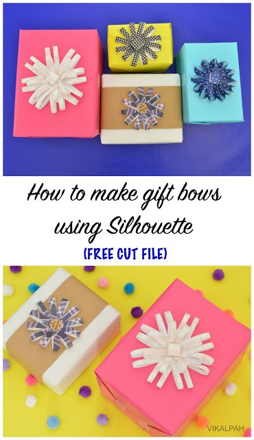 Make bows with the Silhouette - Here are more than 30 Christmas Paper Crafts for you to try this season. There are handmade Christmas Cards, decorations, Christmas ornaments, Gift wrapping ideas, gift tags, and printable Christmas decor. So many great ideas!