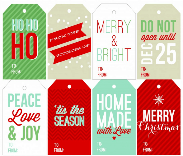 Printable Christmas Gift Tags - Here are more than 30 Christmas Paper Crafts for you to try this season. There are handmade Christmas Cards, decorations, Christmas ornaments, Gift wrapping ideas, gift tags, and printable Christmas decor. So many great ideas!