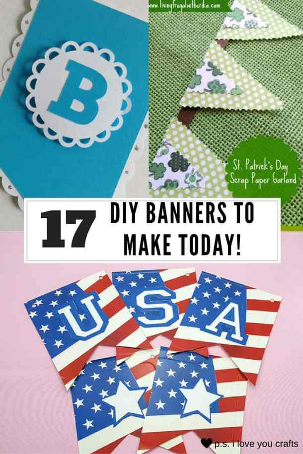 DIY Pennant Banners can be made for any holiday or occasion. They look great hanging on a mantel as part of your home decor or on the wall for a party decoration. They are easy to make to fit any theme or budget. They are particular popular for birthday parties, and bridal showers,