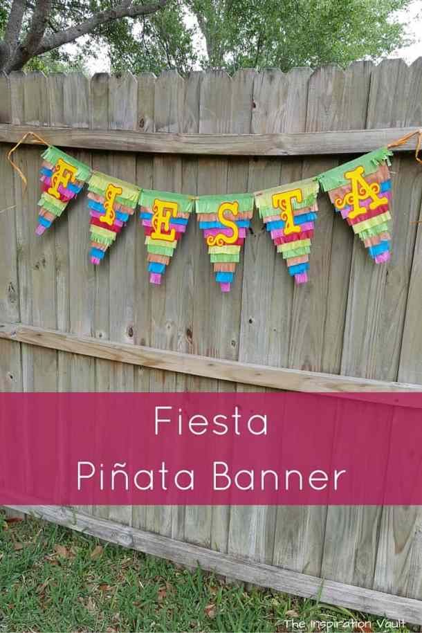 Fiesta Cinco de Mayo Banner - DIY Pennant Banners can be made for any holiday or occasion. They look great hanging on a mantel as part of your home decor or on the wall for a party decoration. They are easy to make to fit any theme or budget. They are particular popular for birthday parties, and bridal showers,