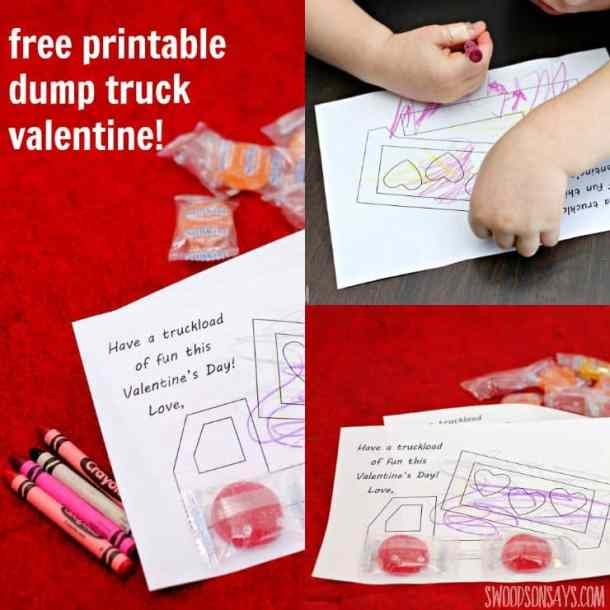 Free Printable Dump Truck Valentine - Valentine's Day Paper Crafts are fun and easy. If you're a card maker or scrapbooker, you probably have all the supplies you need to get started with these paper crafting projects. There are clever handmade cards with secret messages, Valentine's Day Games for the kids, and home decor. I need to try some of these!